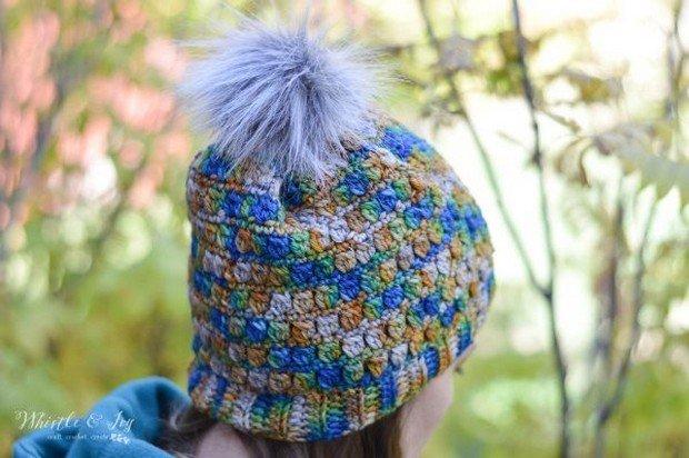 Crochet Pom Pom Hat Free Pattern_2
