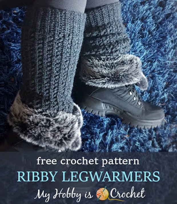 Knit-like Crochet Leg Warmers Free Pattern