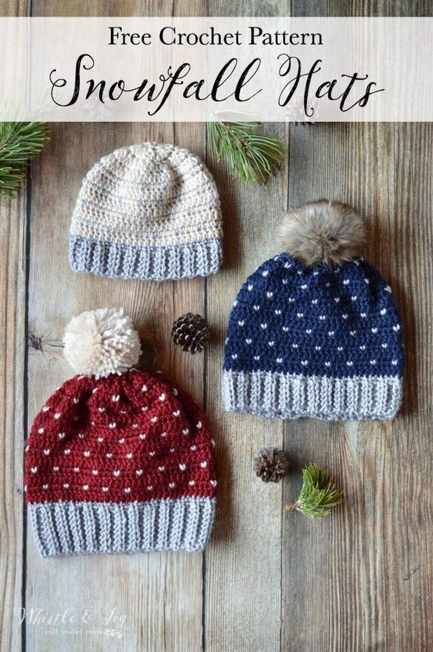 FREE Pattern  Beautiful Crochet Pom Pom Hat in all Sizes — Babies to  Adults! f9c9516a848