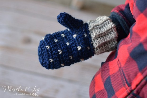 crochet mittens all sizes free pattern