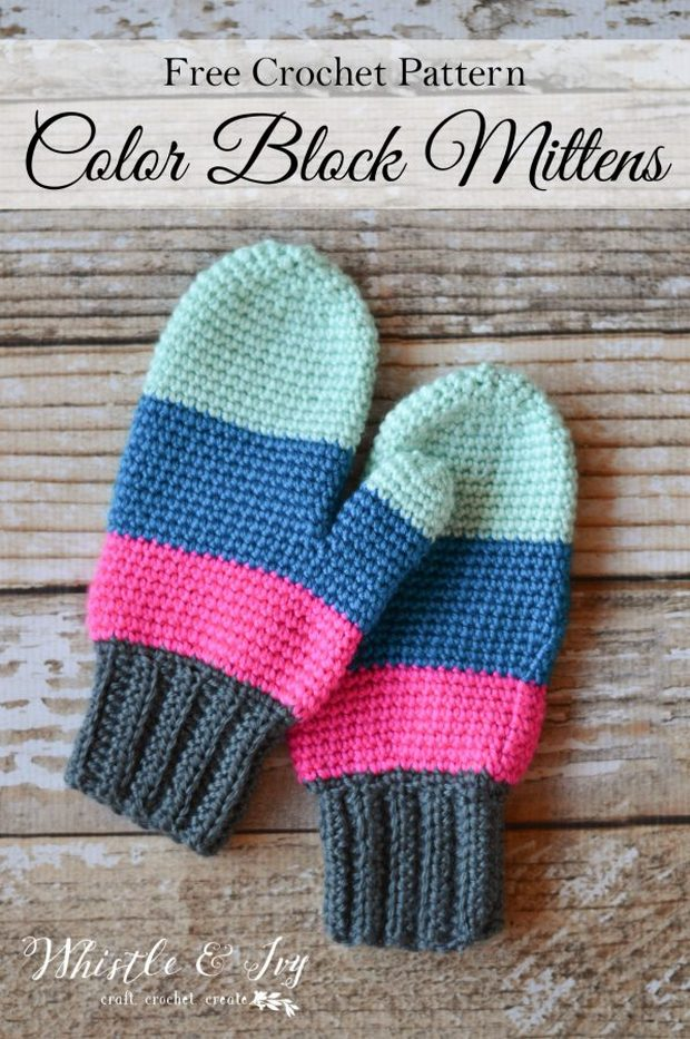 Free Pattern] These Crochet Mittens Are Colorful, Cozy and Warm!