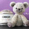Crochet Bear Caron Sprinkle Cake Yarn Free Pattern