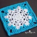 Crochet Snowflake Granny Square Free Pattern