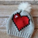 Crochet heart slouch hat free pattern