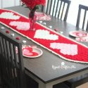 crochet c2c valentine table runner free pattern
