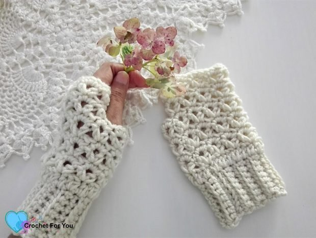 Free Crochet Pattern These Fingerless Gloves Are Lacy Gorgeous Easy