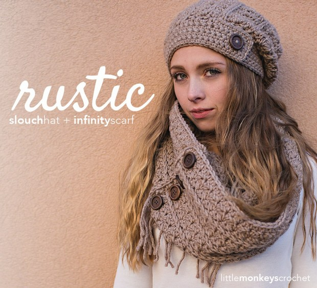 872711167e3 Fashionable Crochet Slouch Hat and Infinity Scarf -- Easy FREE ...