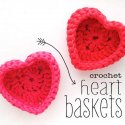crochet heart baskets free pattern
