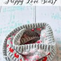 crochet infinity scarf with hearts free pattern