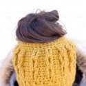 crochet messy bun hat free pattern