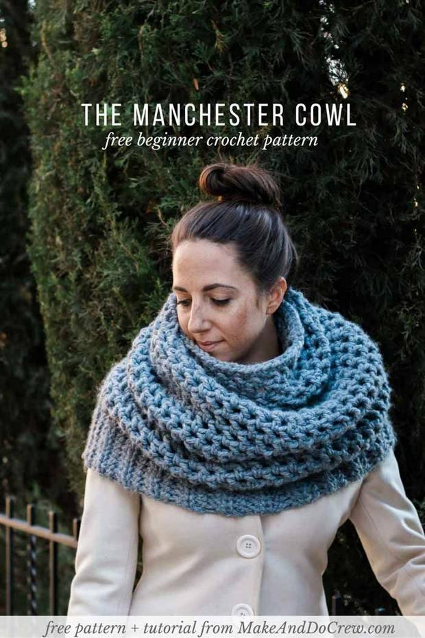 crochet oversized cowl easy free pattern