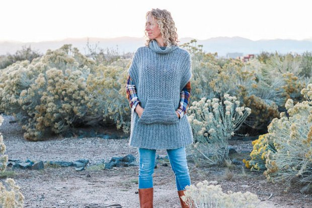 Free Pattern This Stylish Crochet Poncho With A Pocket Is Fast And