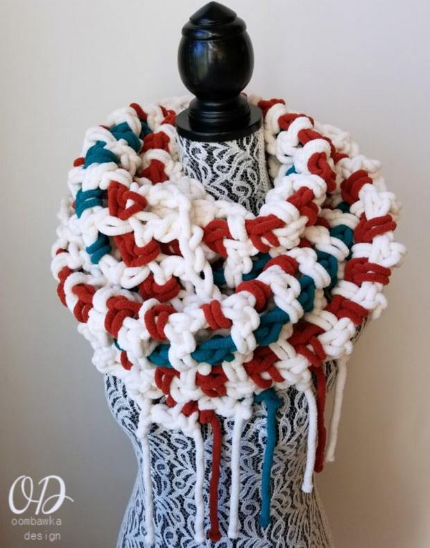 crochet super scarf easy free pattern