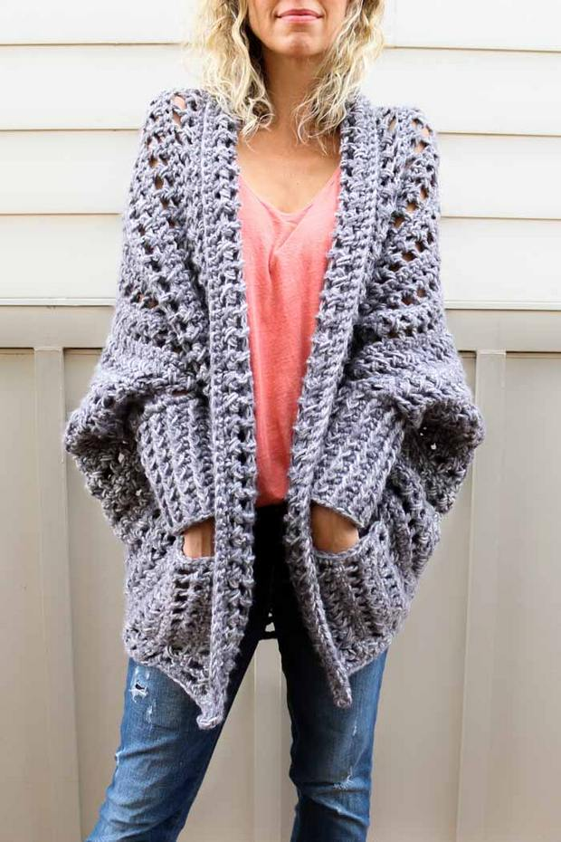 793e0a55c You Can Crochet this Stylish Sweater even if You re a Beginner! –  Easy  FREE Pattern + Video Tutorial