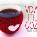 crochet valentines day cup cozy free pattern