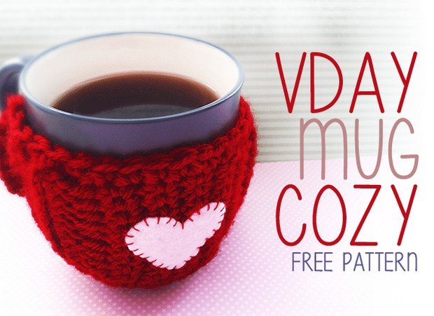 Free Pattern This Crochet Valentines Day Mug Cozy Is Fast Easy