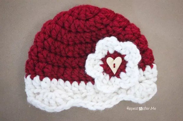 crochet valentines day hat free pattern