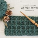 crochet waffle stitch free video tutorial