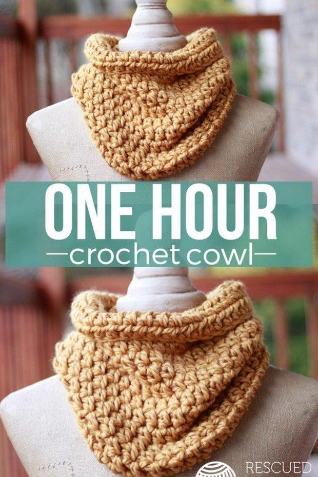 Crochet Cowl Fast Easy Pattern