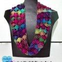 Crochet Cowl Red Heart Unforgettable Yarn f free pattern