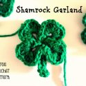 Crochet Shamrock Garland easy free pattern