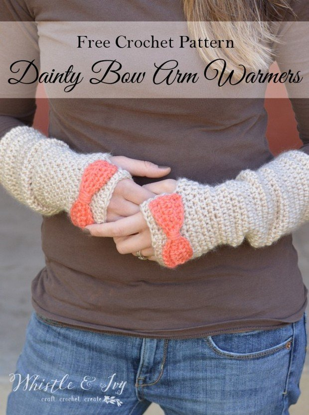 crochet arm warmers free pattern
