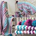 crochet blanket caron cakes yarn free pattern