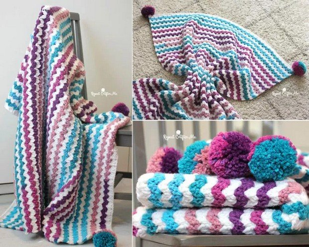 FREE Pattern] Beautiful Crochet Blanket Made with Caron Chunky Cakes ...