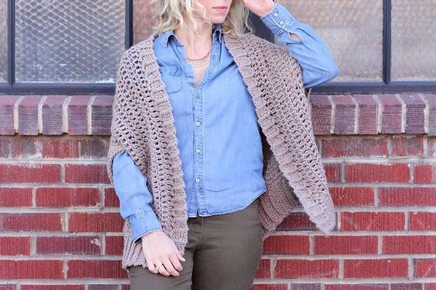 crochet cocoon cardigan free pattern