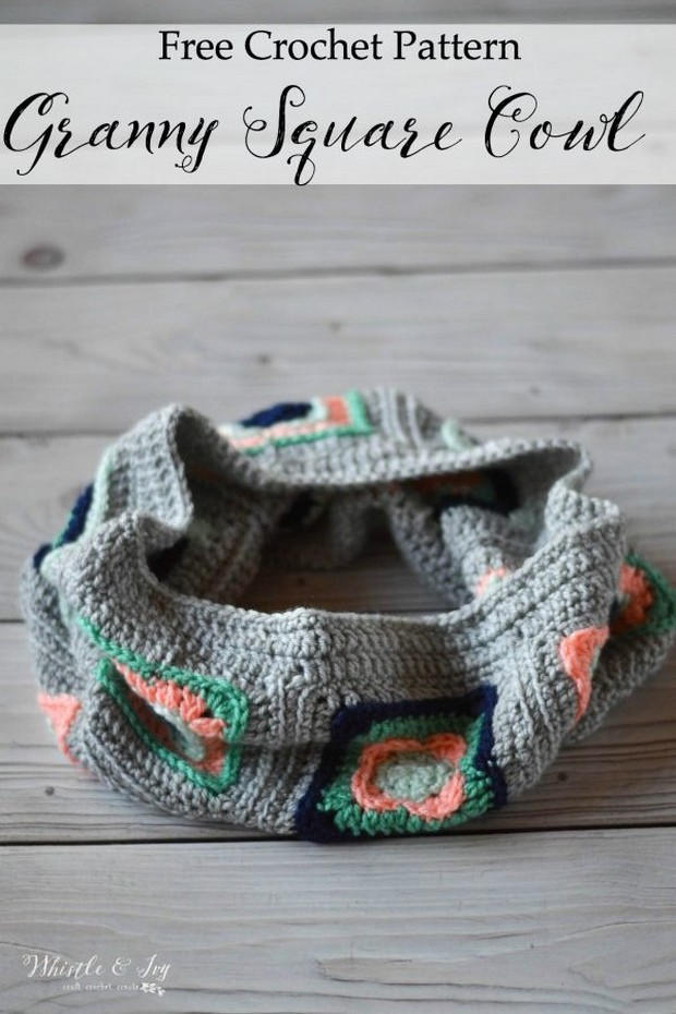 Free Pattern This Gorgeous Crochet Granny Square Cowl Is Easy And