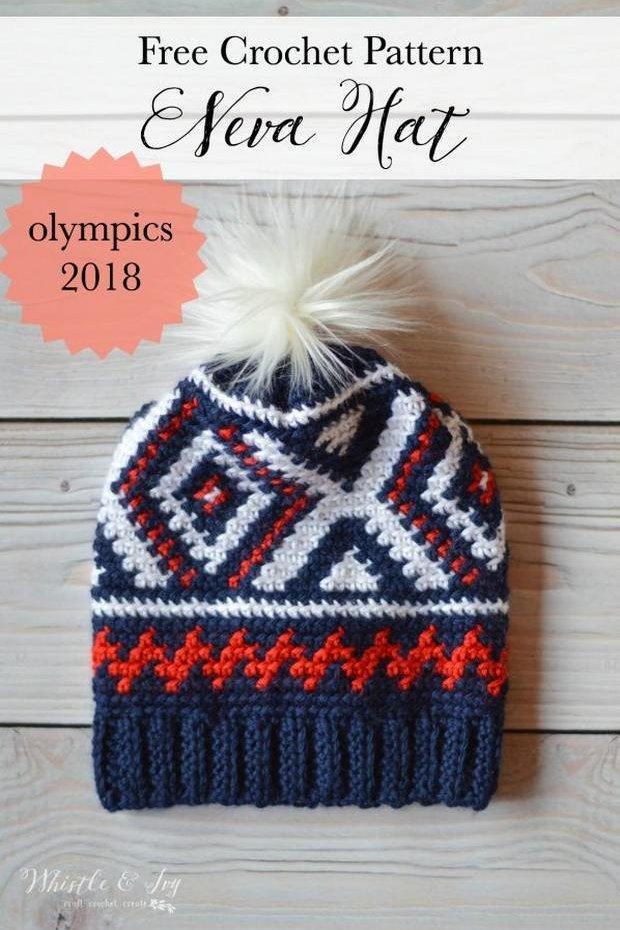 crochet pom pom hat olympics free pattern.jpg