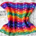 crochet-rainbow blanket easy free pattern