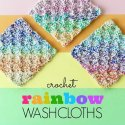 crochet rainbow washcloth free pattern