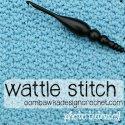 crochet wattle stitch free photo tutorial