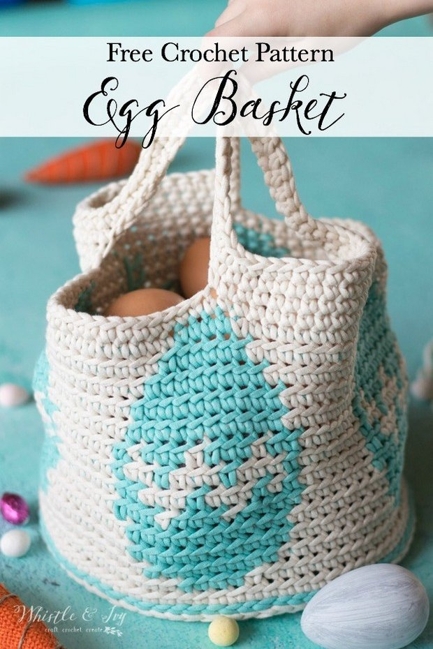 Free Pattern This Fabulous Crochet Easter Bunny Basket Is Fast And