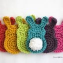 crochet easter bunny appliques free pattern