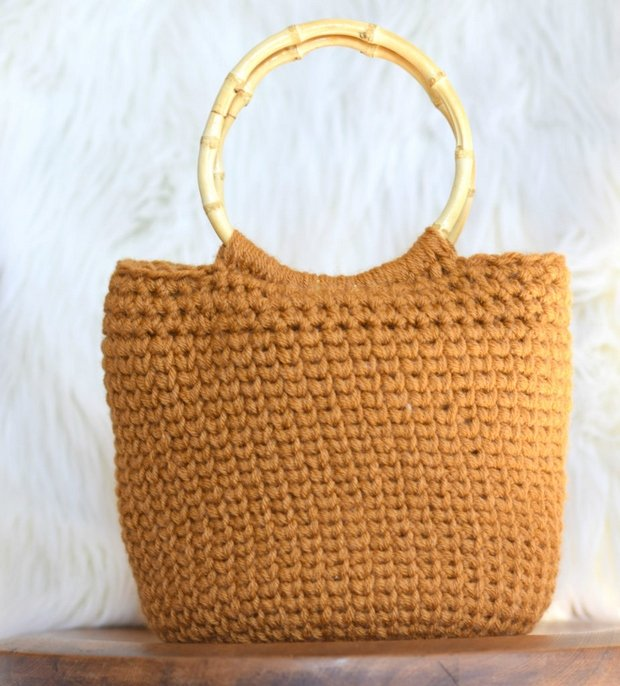 crochet knit-like tote bag free pattern