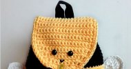 crochet bumble bee backpack free pattern
