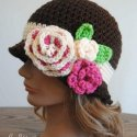 crochet clochet hat flowers free pattern