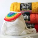Crochet Rainbow Backpack free pattern