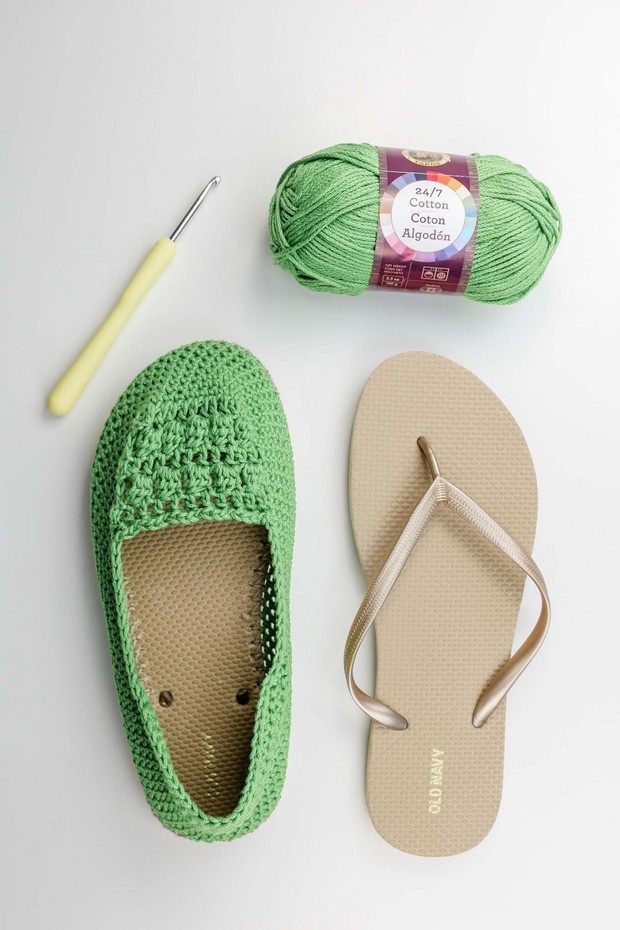 Crochet Summer Shoes Free Pattern