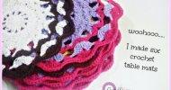 Crochet Table Mat Free Pattern