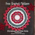 Crochet Christmas Doily free pattern