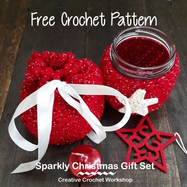 Crochet Christmas Gift Set free pattern