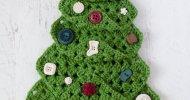 crochet granny square christmas tree